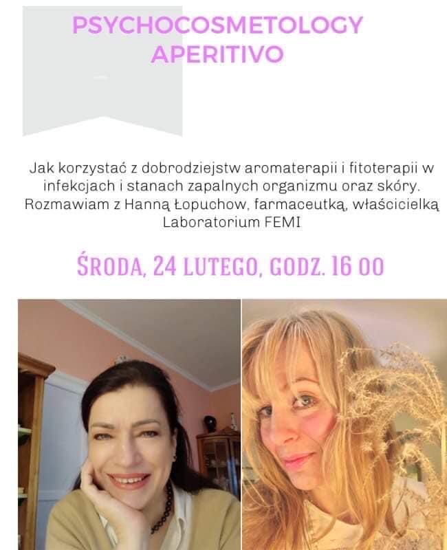 AROMATERAPIA I FITOTERAPIA NA STANY ZAPALNE TAKŻE SKÓRY. HANNA ŁOPUCHOW Z LABORATORIUM  FEMI